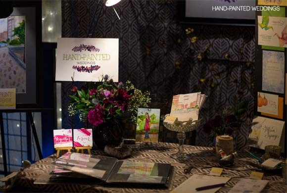 Hand-Painted Weddings at Lovesick Expo 2015