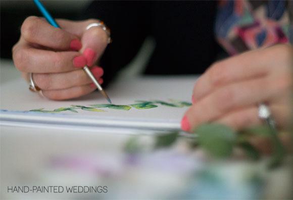 Behind the Scenes at Hand-Painted Weddings