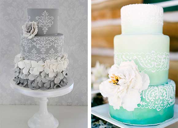 Damask and Ombre wedding curated by Hand-Painted Weddings