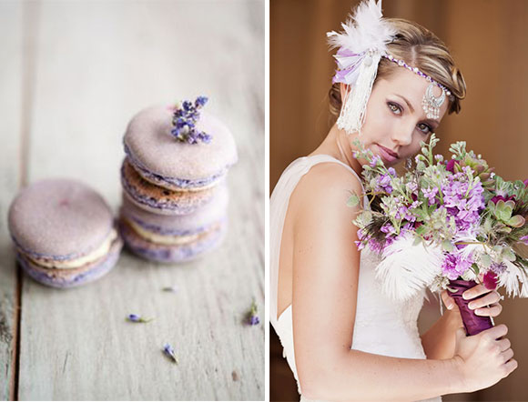 Vintage Purple Feather Inspiration