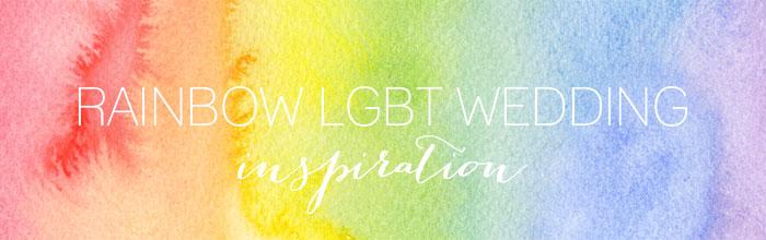 Rainbow-inspired LGBT Pride wedding