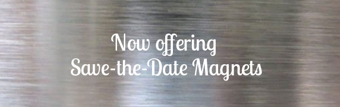 Now Offering Watercolor Save-the-Date Magnets