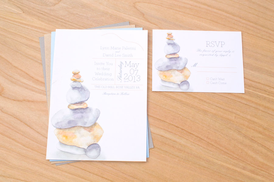 Hand-Painted Invitation: Rock Sculptures