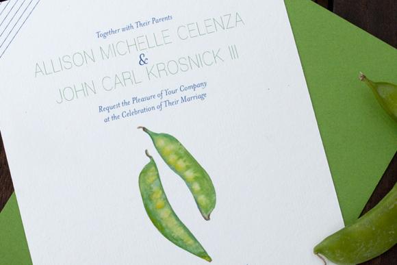 Spring Vegetables: Two Peas Invitation