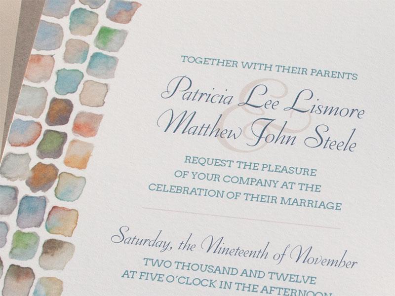 Hand-Painted Invitation: Cobblestone
