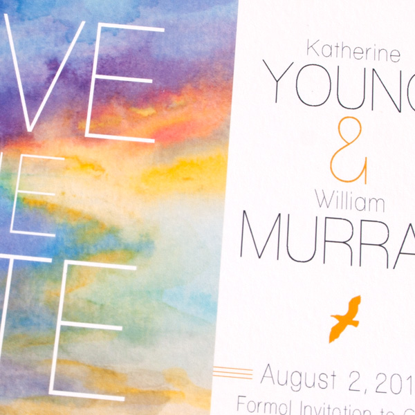 Sunsets: Hand-Painted Save-the-Date