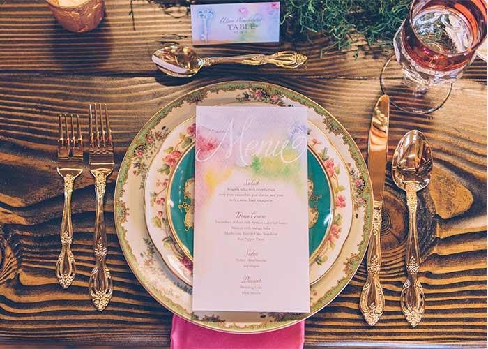Alice in Wonderland Wedding Day Paper