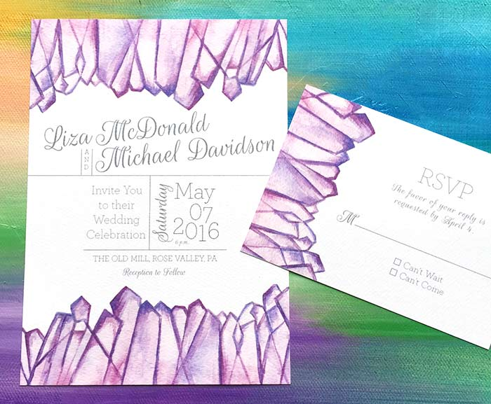 Calming yet Bold, faceted Amethyst Quartz Invitation