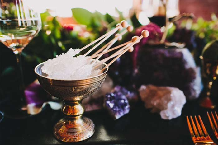Amethyst Gemstone Wedding Reception Inspiration