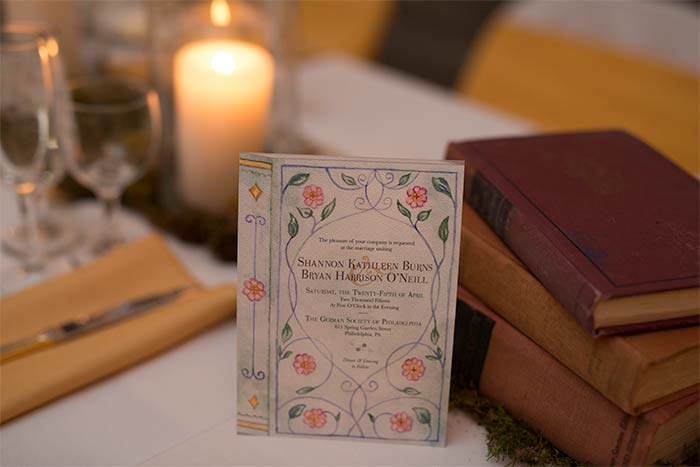 Real Wedding: Literature Themed Wedding in Philadelphia