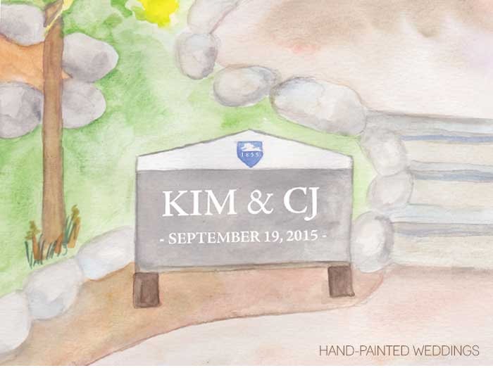 Penn State Alumni Wedding – Custom Thumbprint Guestbook