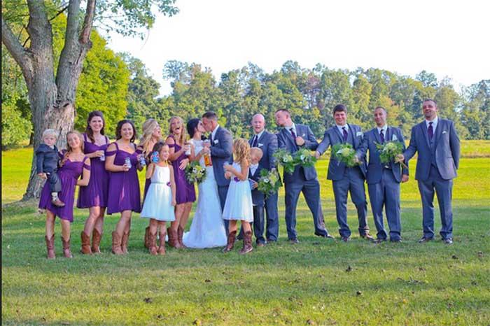Country Backyard Wedding featured on Hand-Painted Weddings. Photo by Neal Palumbo, Studio 11 West.