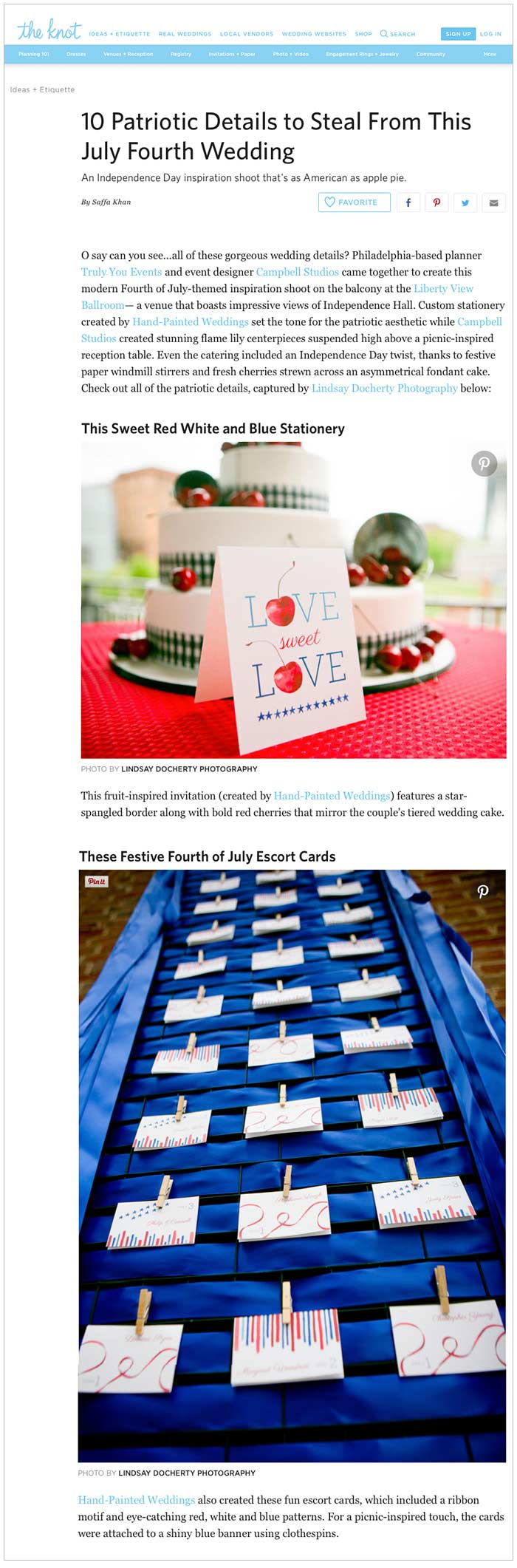 Patriotic Ideas featured on the Knot