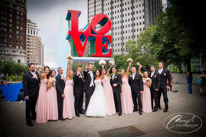Philly Wedding Love Statue