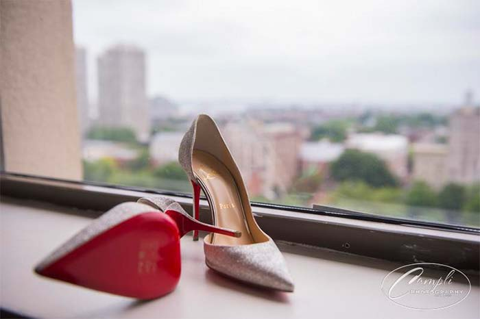 Philly wedding Louboutins
