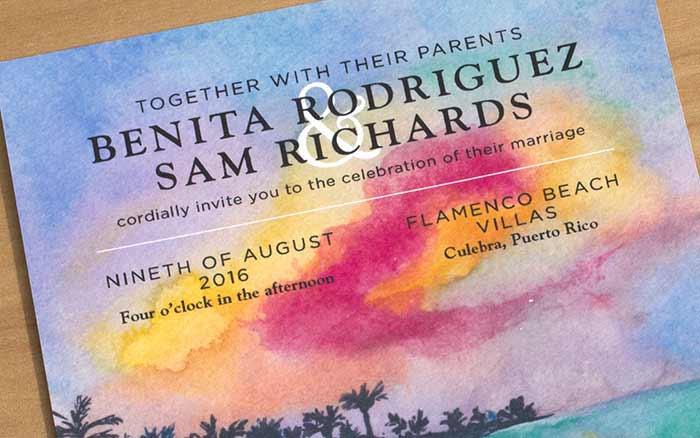 Puerto Rico Wedding invitation