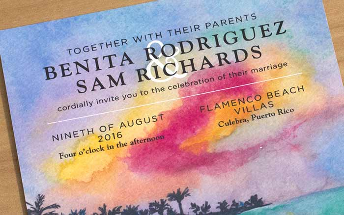 Puerto Rico Wedding invitation