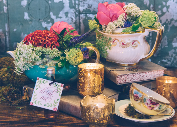 Alice in Wonderland Wedding featured on ModWedding
