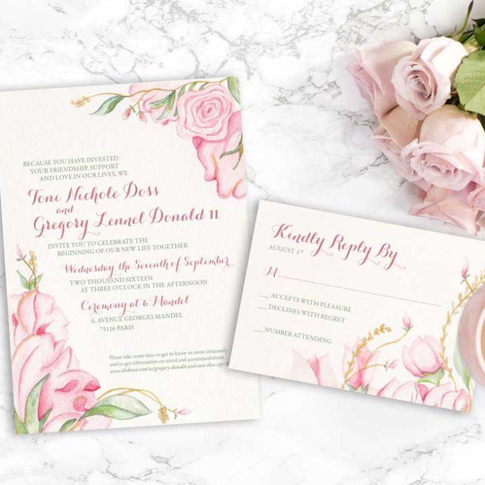 Blush Floral Invitation