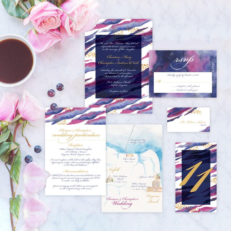 Lilly Pulitzer Inspired Wedding Invitation