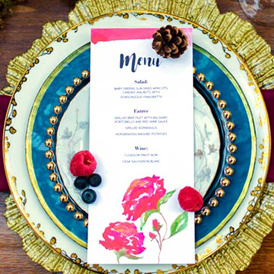 Woodsy Wedding Invitation