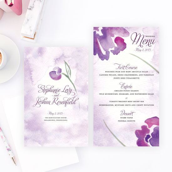 Abstract Floral Wedding Design