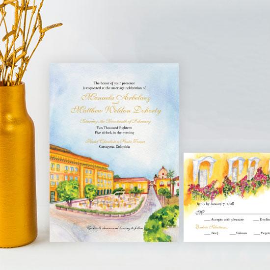 Cartagena Wedding Invitation