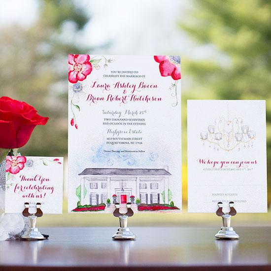 Highgrove Estate Classic Wedding Invitation