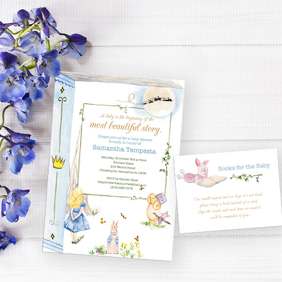 Storybook Baby Shower Watercolor Invitation