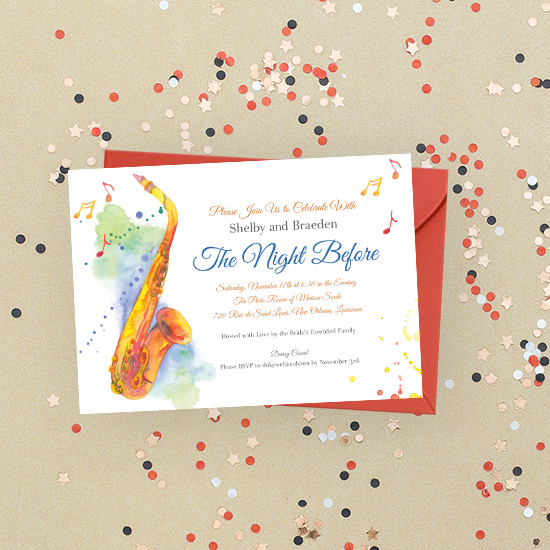 New Orleans Rehearsal Dinner Invitation