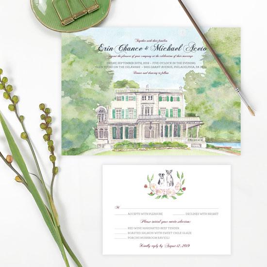 Glen Foerd Wedding Invitation