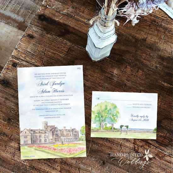 Hempstead House Wedding Invitation