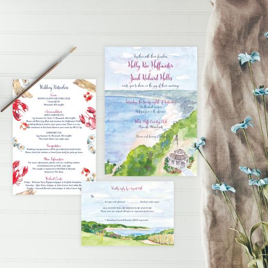 White Cliffs Country Club Wedding Invitation