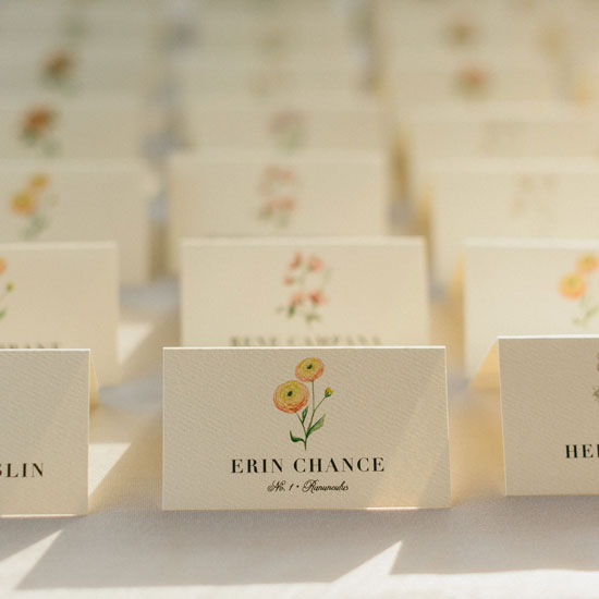 Botanical Watercolor Place Cards