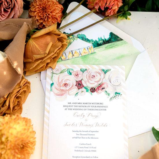 Caribou Ranch in Colorado Wedding Invitation