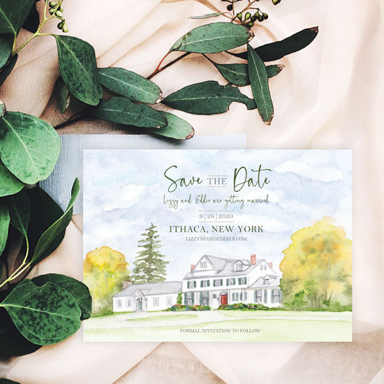 Fontainebleau Inn Wedding Save-the-Date