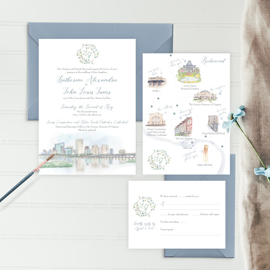 Science Museum of Virginia Wedding Invitation