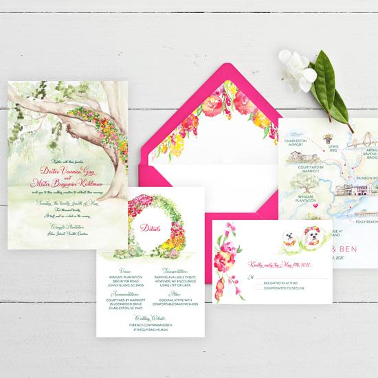 Summer Wedding Invitation at Wingate Plantation