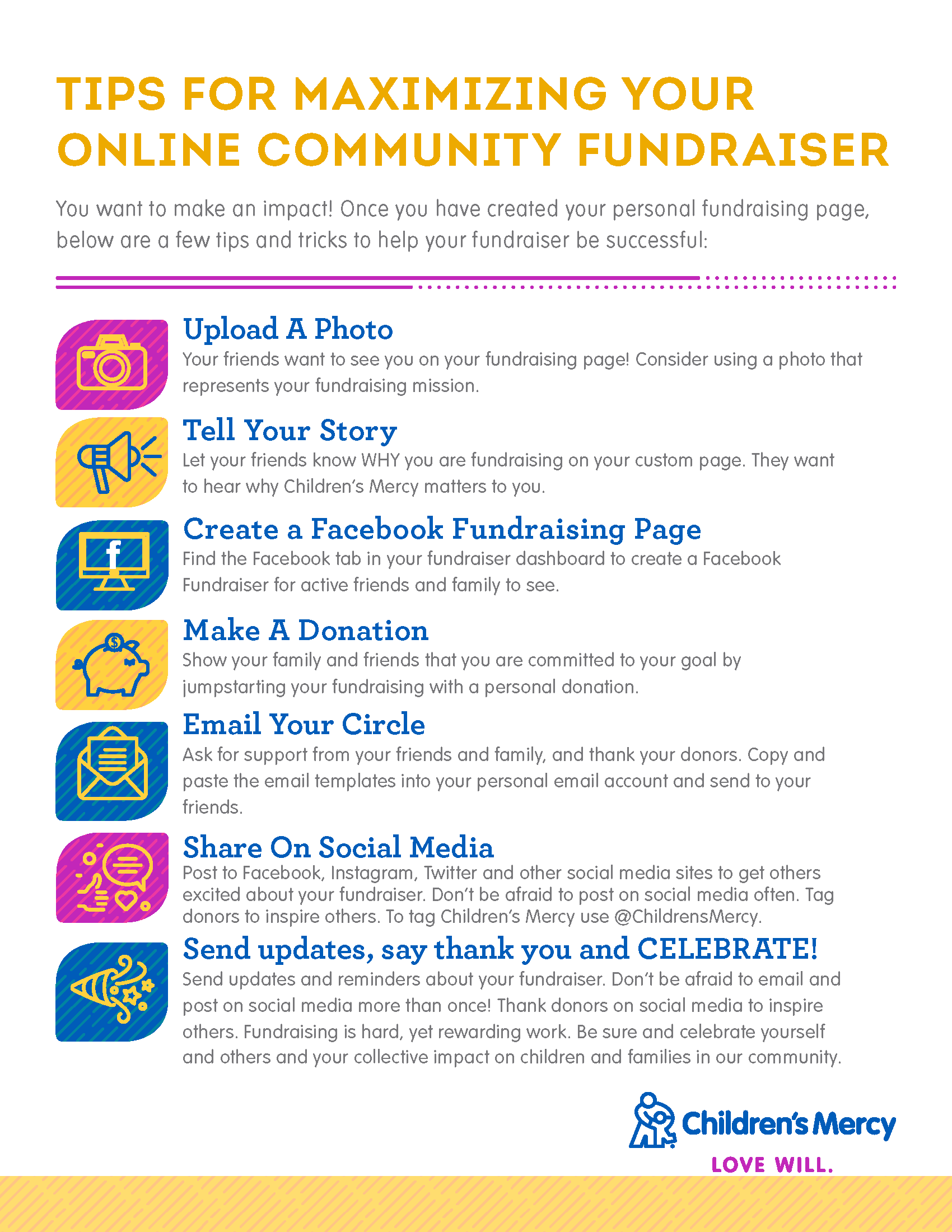 Tips for Maximizing Your Online Community Fundraiser graphic