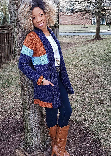 Everlee Crochet Cardigan Pattern by DeniMade