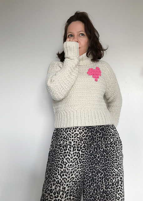 Heart of Yarn Crochet Sweater Pattern by Dora Does