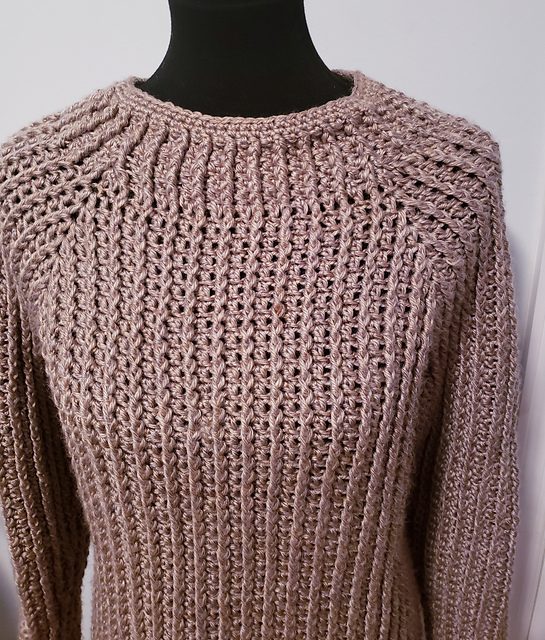 Mounass Pullover Crochet Sweater Pattern