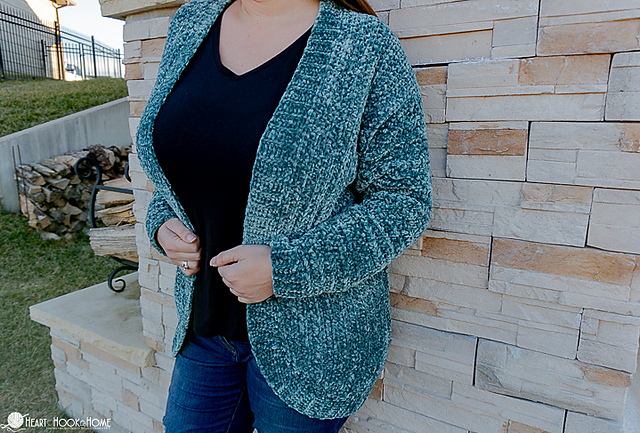 Velvet Crochet Cardigan Pattern by Heart Hook Home