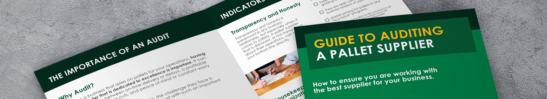Guide to auditing a pallet supplier pdf preview