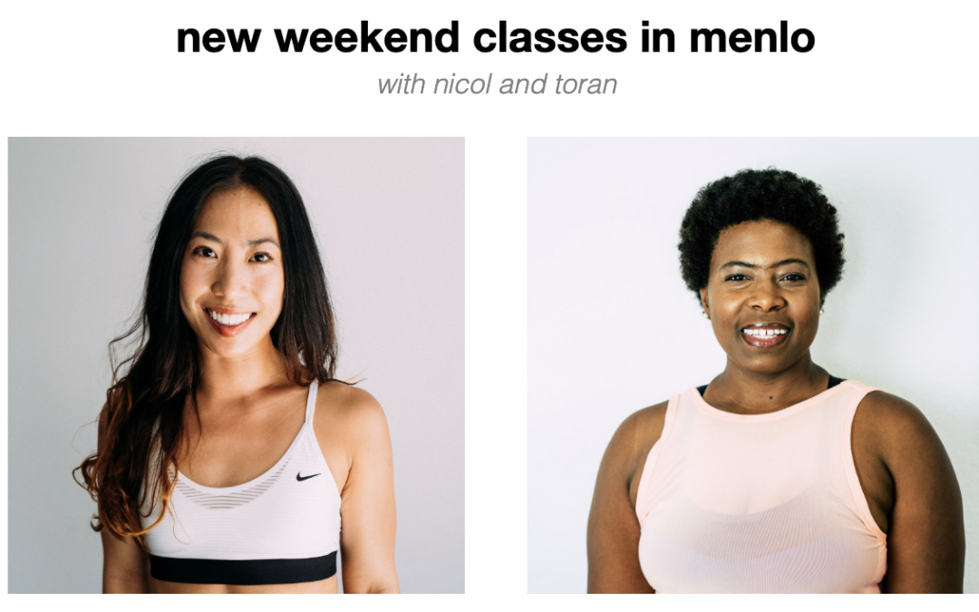 new weekend classes in menlo