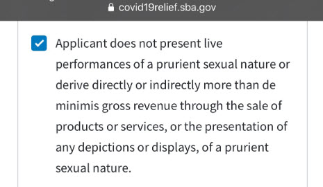 The Check Box: We are not prurient