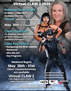 Meet the NCSF (and Sexual Freedom Quiz) at Virtual CLAW 2