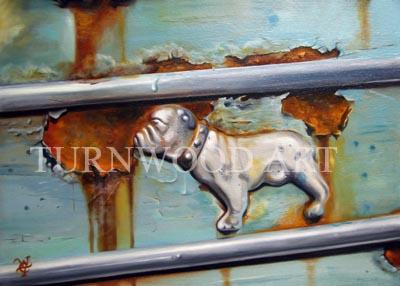 Bull Dog Mack - Oil on Canvas by William C. Turner