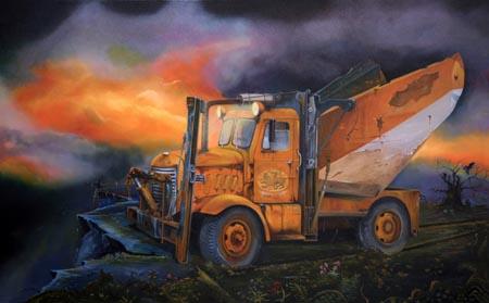 Pegasus - Oil on Canvas by William C. Turner