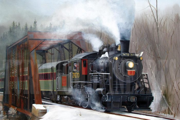 7470 Under Steam - Oil on Canvas by William C. Turner